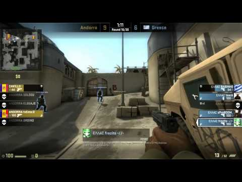 CS:GO European Championship Qualifiers 2013: Greece vs. Andorra  - de_dust2_se