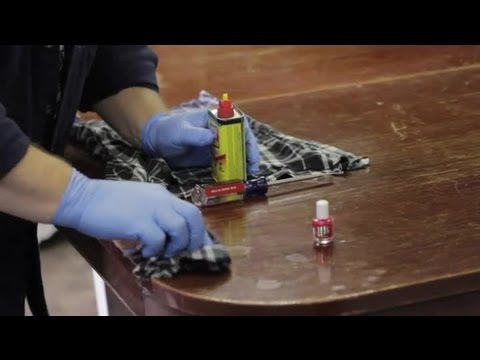 How to get nail polish off of furniture furniture repair How to get nail polish out of couch