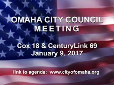 Omaha Nebraska City Council Meeting, January 9, 2018