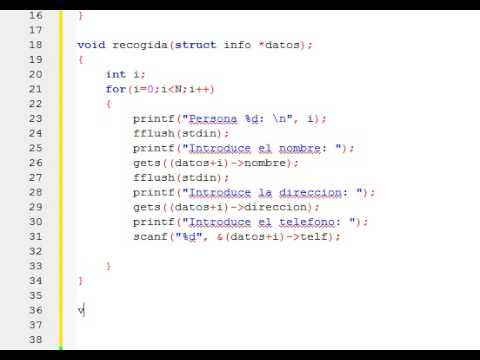 Ejercicios De Programación En C Paso De Estructuras Como Parámetros En C Utilizando Punteros