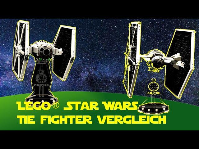 Lego Star Wars Tie Fighter Vergleich (9492  vs 75300)