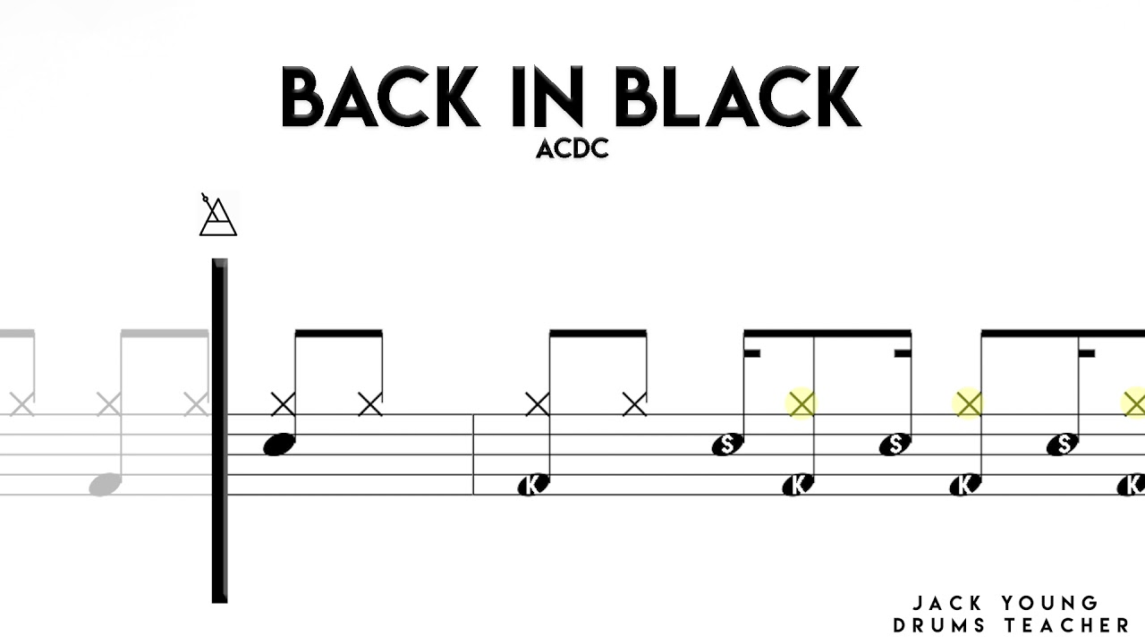 Download How to play Back In Black on Drums 🥁