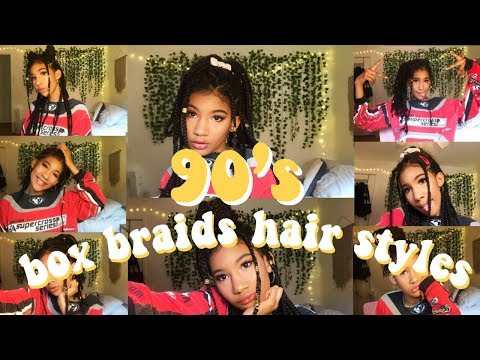 10 Box Braid Hairstyles for 90's Queen