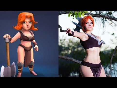 Clash Of Clans Cosplay - Real Life Characters