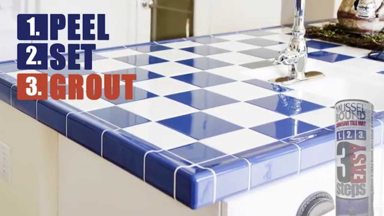 musselbound adhesive tile mat