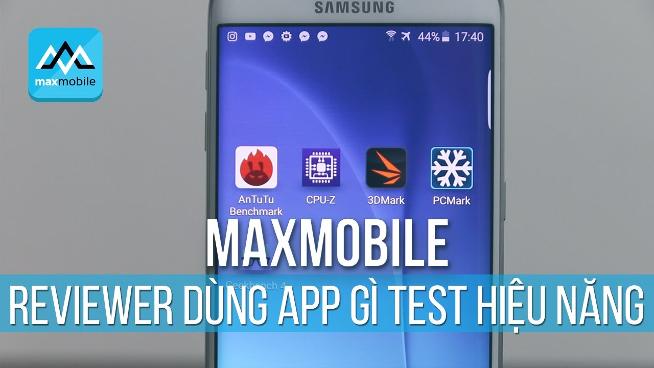 Reviewer dùng ứng dụng gì để kiểm tra hiệu năng của smartphone?