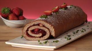 Recette de Gâteau roulé à la confiture de Fraises Bonne Maman - 750 Grammes