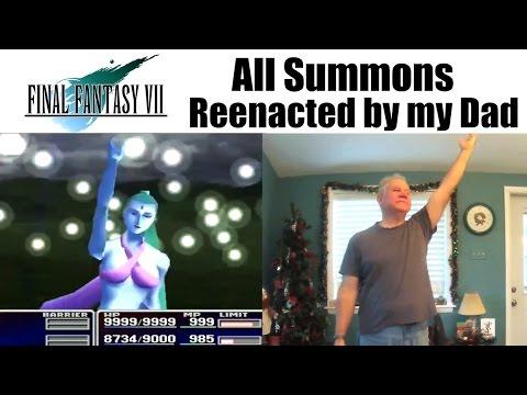 Final Fantasy VII Summons reenacted by my Dad