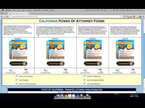 Power of Attorney Form California