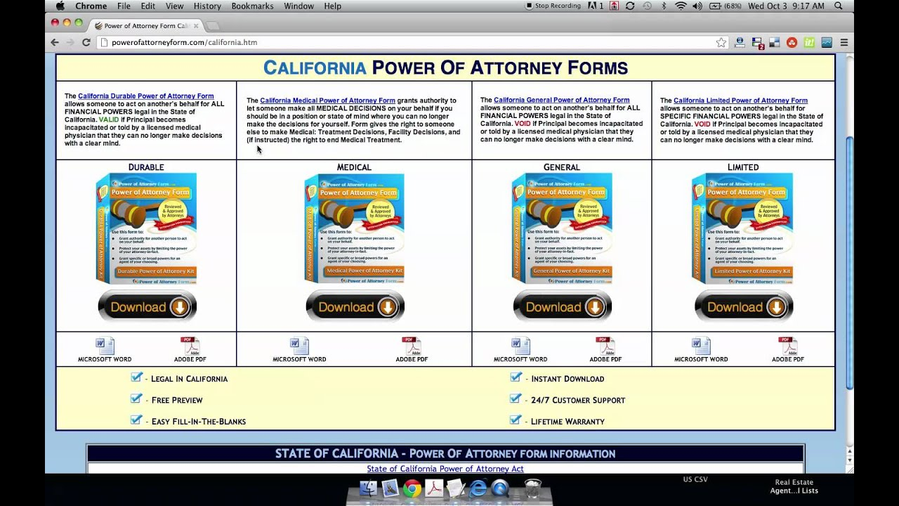 Power of attorney form california youtube power of attorney form california falaconquin