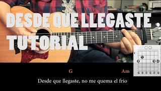 """Como tocar """"Desde Que Llegaste"""" de Reyli - Tutorial Guitarra (Fácil)"""