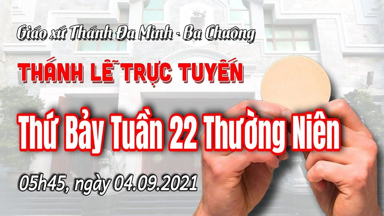 TLO: Thứ Bảy tuần 22 thường niên, 04.9.2021