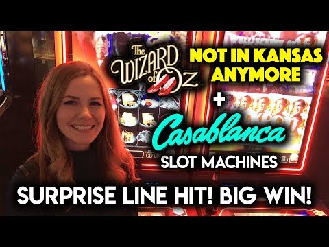 BIG WIN! WOW! I didn't Realize Casablanca Slot Machine could pay that much on a line hit!