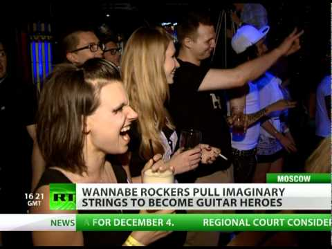 Wannabe Rockers Compete On Imaginary Guitars