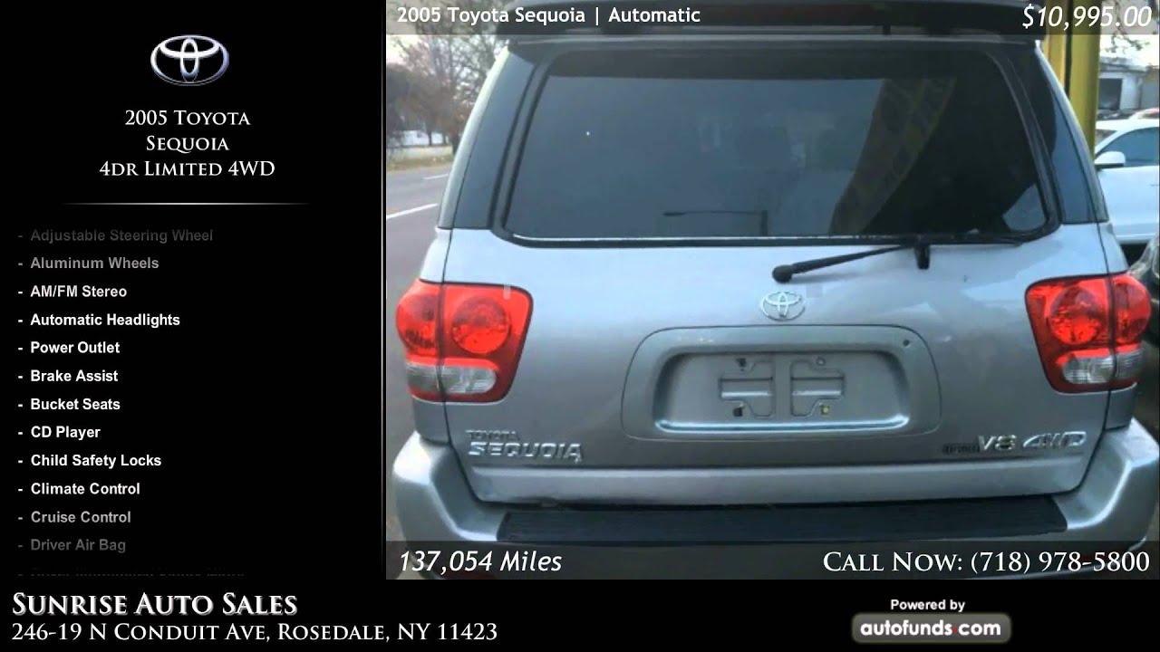 Sunrise Auto Outlet >> Used 2005 Toyota Sequoia Sunrise Auto Sales Rosedale Ny