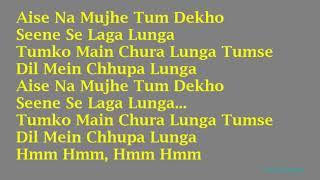 KARAOKE:~Aise Na Mujhe Tum Dekho