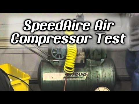 Speedaire Air Compressor Test Youtube