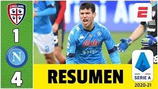 Cagliari 1-4 Napoli. Gol de Hirving Chucky Lozano y doblete de Zielinski. Respira Gattuso | SerieA