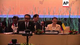 Foreign ministers and officials at Forum for East Asian-Latin America Cooperation