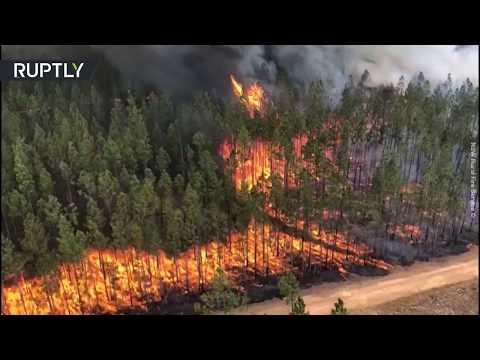 Wildfires burning in Australia's Richmond Valley