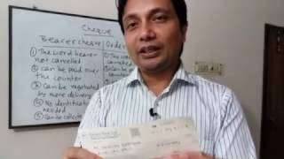 bearer cheque vs order cheque