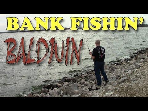 Winter Bank Fishing For Channel Catfish At Baldwin Lake Illinois