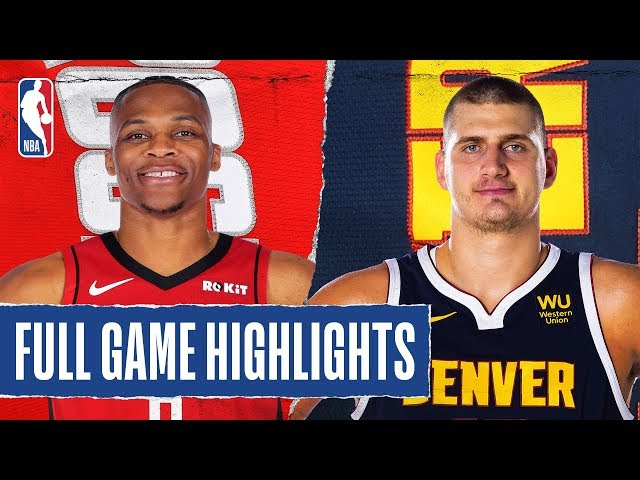 ROCKETS at NUGGETS | FULL GAME HIGHLIGHTS | January 26, 2020
