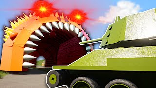 GIANT SLUG MONSTER MUST BE STOPPED!  - Brick Rigs Multiplayer Gameplay