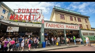 """Flying Fish"" at the Pike Place Market, Seattle, Washington"
