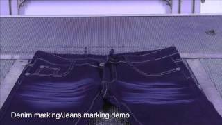 Incomparable denim and jeans marking engraving systems GBOS LASER