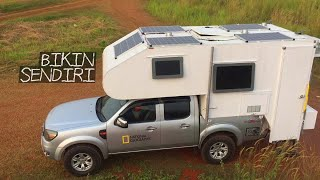 Uji Coba Camper Truck Bikinan Sendiri Dilengkapi Tenaga Surya - utk Mobil Ford Ranger