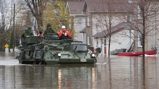 Canadian army presence tripled in Quebec to assist in flooded areas