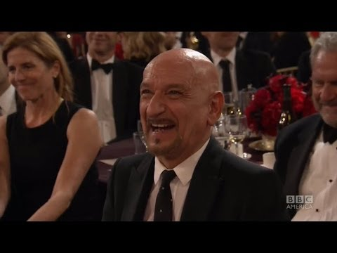 SIGOURNEY WEAVER Seduces Sir BEN KINGSLEY - 2013 Britannia Awards on BBC AMERICA