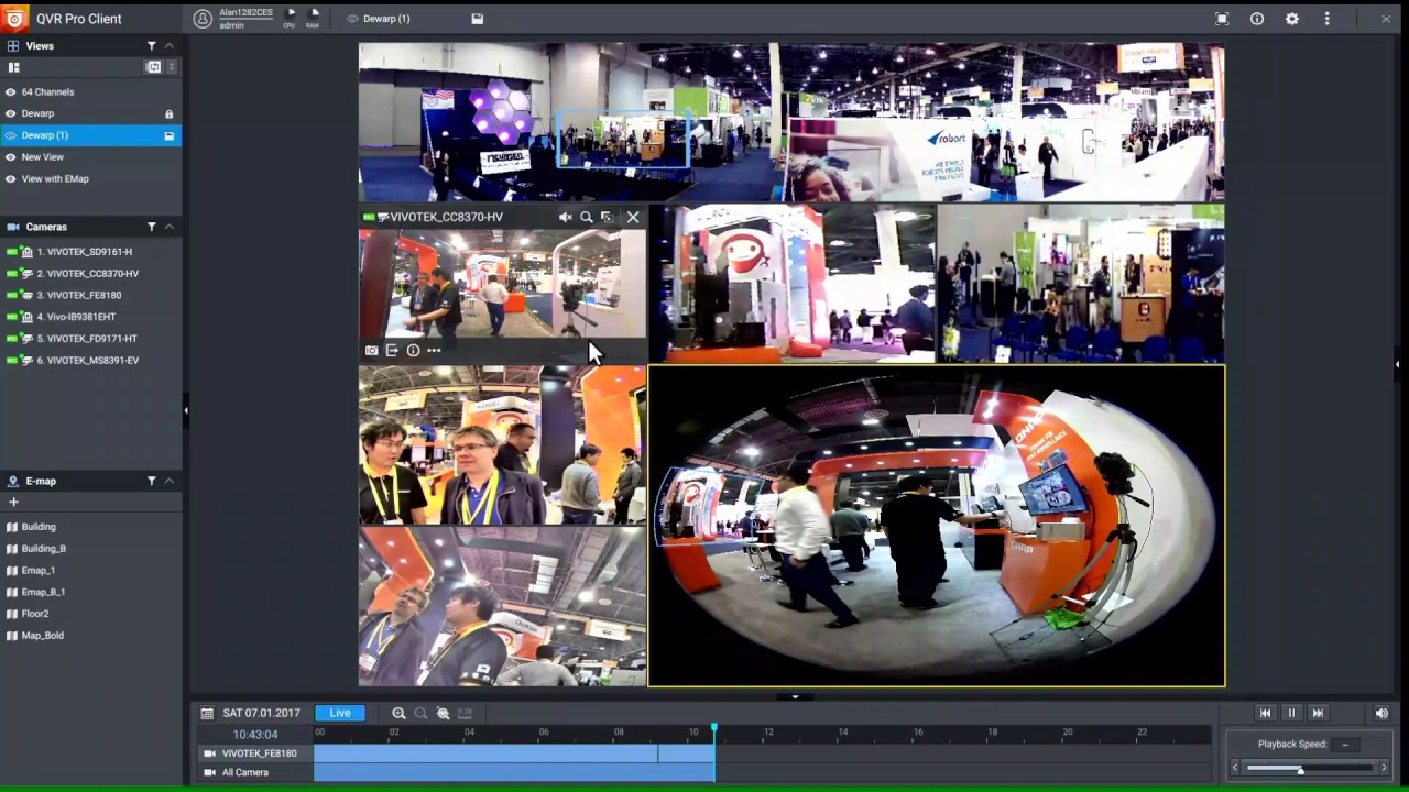 QNAP CES Live Stream - Day 3 QVR Pro briefly demo