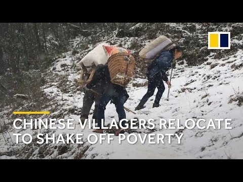 Extreme poverty in China: poor villagers in southwest China relocate for better life