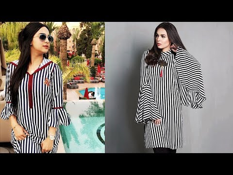 Striped Printed Kurti Designs 2019 | Indian Fashion 2019