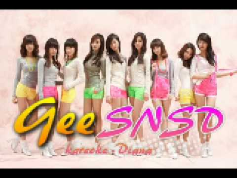 ♪ SNSD / Girls Generation ~ Gee Instrumental / karaoke (no main vocals only backup) ~ Diana ♪