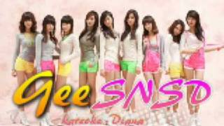 ♪ SNSD / Girls Generation ~ Gee Instrumental / karaoke (no main vocals only backup) ~ Diana ♪