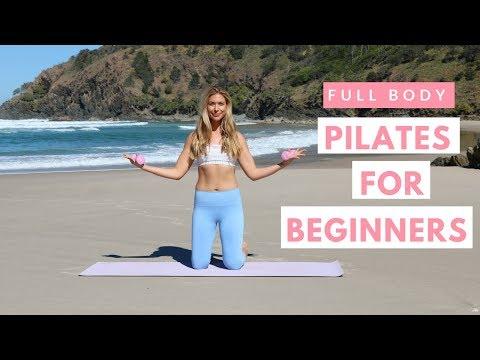 FULL BODY BEGINNER PILATES WORKOUT �� mat pilates home workout