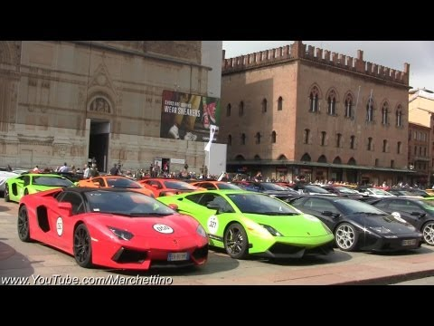 The BEST Lamborghini Gathering Ever - 350 Bulls