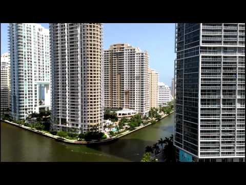 Miami downtown brickell ave,beautiful view from the top