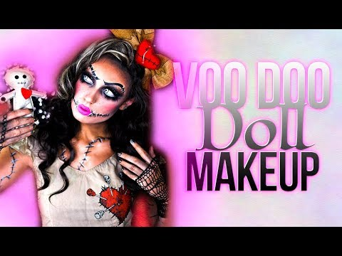 She\'s A Little Creepy | VooDoo Doll | Halloween Makeup Tutorial ...