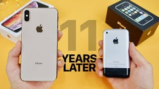 iPhone XS Max vs Original iPhone 2G! 11 Year Comparison