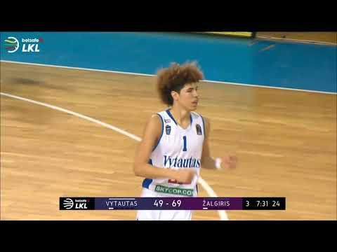 LaMelo hits FOUR 3-pointers in a row against Zalgiris Kaunas