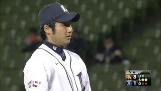 先発・岡本洋が8失点で早々に降板すると、2番手で登板したのは地元出身...