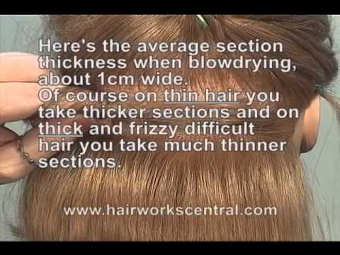 FREE HAIRDRESSING LESSON, How to section the hair when ...