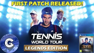 DAY 1 PATCH RELEASED! | Tennis World Tour (PS4/XBOX ONE) | First Look & Review TWT Patch 1.01