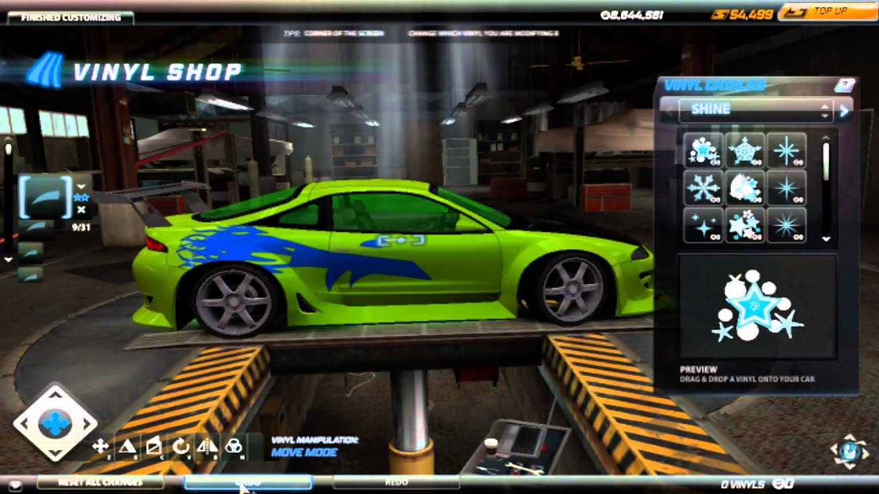 need for speed world mitsubishi eclipse fast furious vinyl