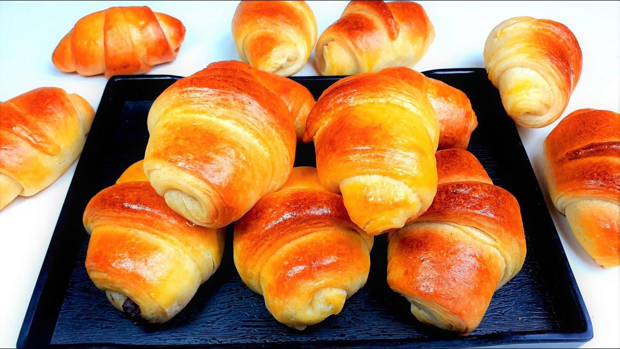 ক্রোসেন্ট রেসিপি   Homemade Chocolate Croissant   Easy Croissant Recipe   Eggless croissant