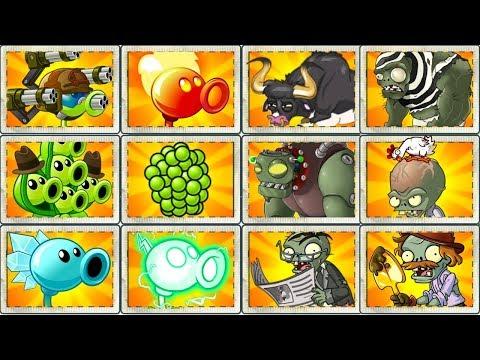 Peas vs Zombies Plants vs Zombies 2 Every Max Power Peashooter vs Hard Zombies - Power UP !